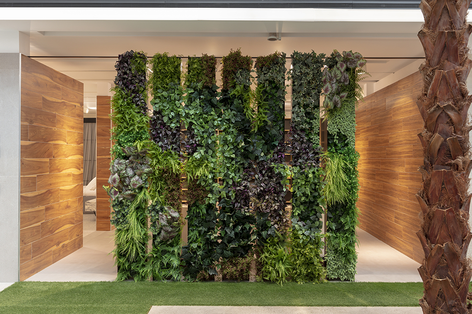 jardín vertical artificial