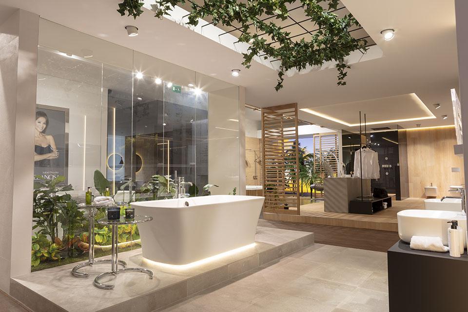 Porcelanosa Banos.Decoracion Vegetal Para Banos En Noken Porcelanosa Bathroom