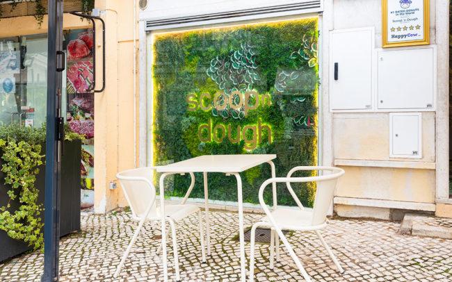 Artificial green walls for shop windows